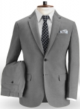 Stretch Summer Weight Gray Chino Suit