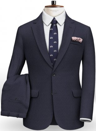 Napolean Blue Checks Couture Wool Suit