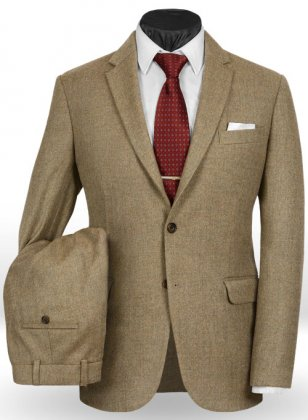Light Weight Melange Brown Tweed Suit