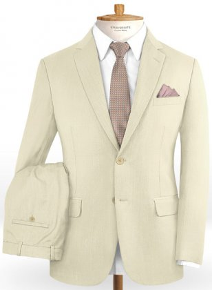 Napolean Light Beige Wool Suit