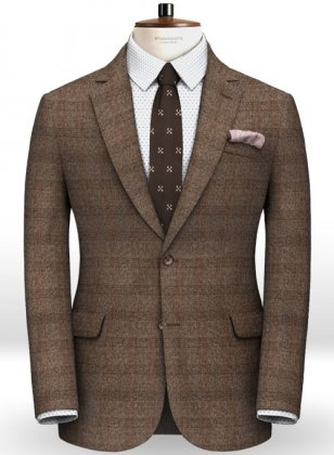 Saga Brown Feather Tweed Jacket
