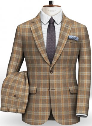 Parma Brown Feather Tweed Suit