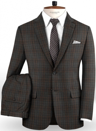 Napolean Fort Gray Wool Suit