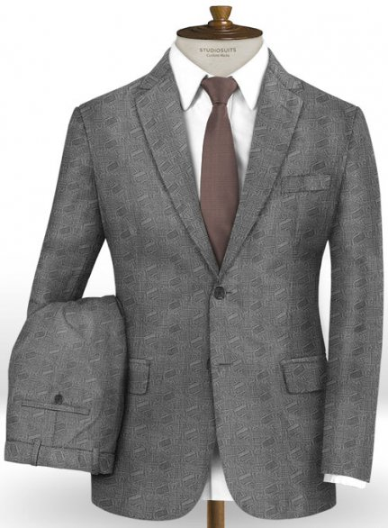 Pieri Gray Wool Suit