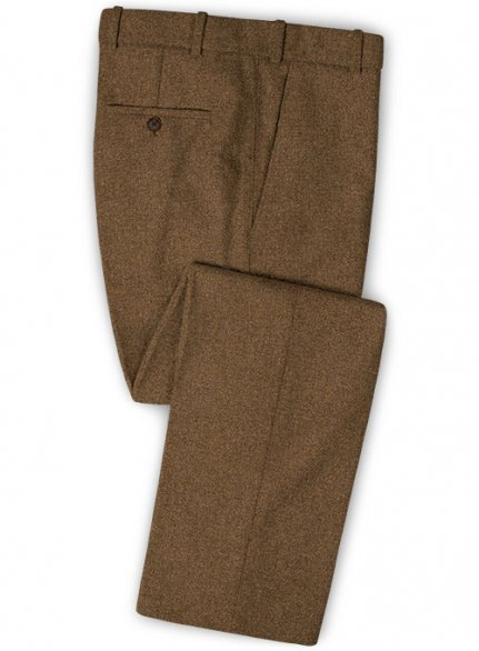 Royal Brown Heavy Tweed Pants