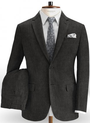 Dark Gray Corduroy Suit
