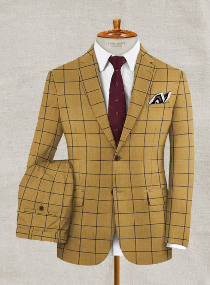 Italian Murano Acelle Checks Wool Suit