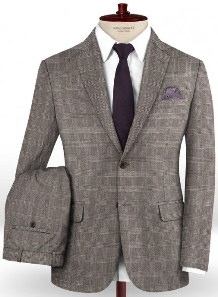 Caccioppoli Dapper Dandy Aronio Gray Wool Suit