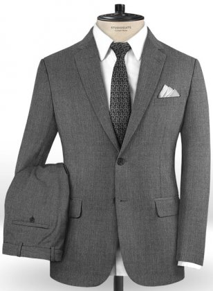 Scabal Graphite Gray Wool Suit
