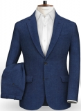 Italian Brandy Blue Linen Suit