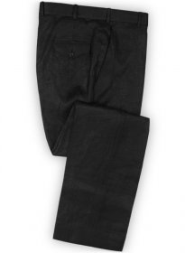 Pure Black Linen Pants