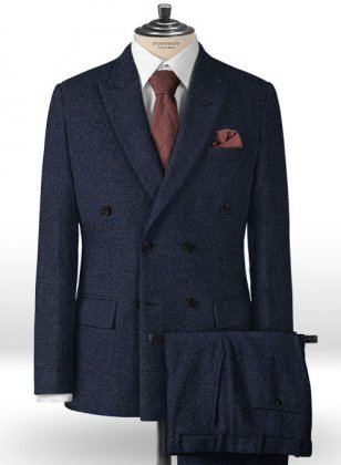 Playman Blue Denim Tweed Suit
