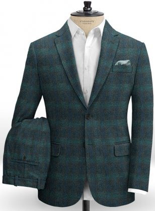 Harris Tweed Glen Green Suit