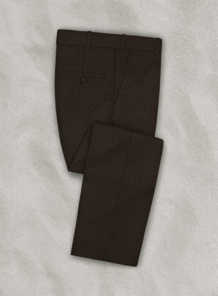 Zegna Armato Brown Wool Pants