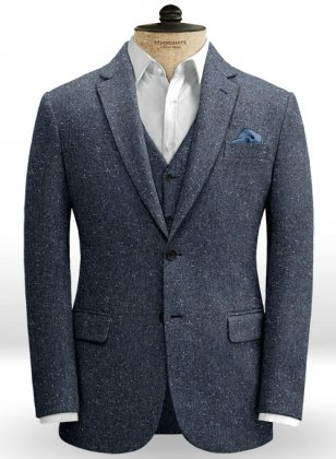Royal Blue Flecks Donegal Tweed Jacket