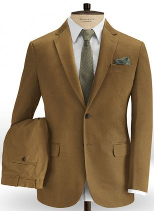 Rust Stretch Chino Suit