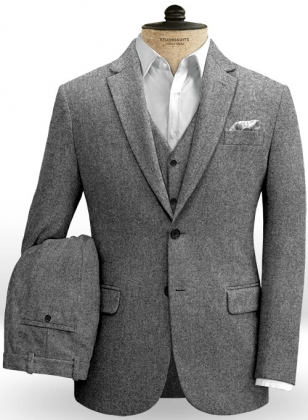 Gray Tweed Suit