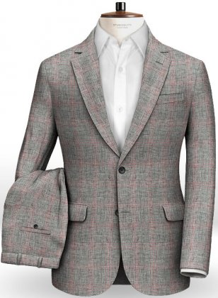 Italian Golf Gray Linen Suit