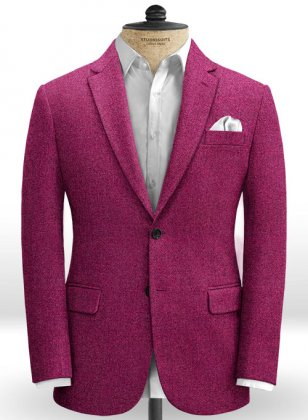 Melange Bubble Pink Tweed Jacket
