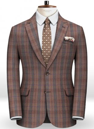 Turin Wine Feather Tweed Jacket