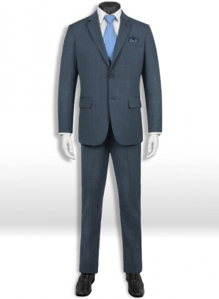 Napolean Fine Blue Wool Suit - Special Offer