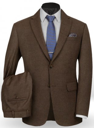 Light Weight Dark Brown Tweed Suit- Ready Size