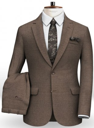Reda Worsted Brown Pure Wool Suit