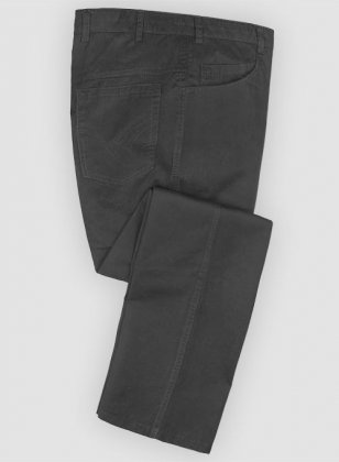 Washed Summer Weight Black Chinos - Jeans Style
