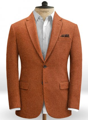 Melange Titan Rust Tweed Jacket
