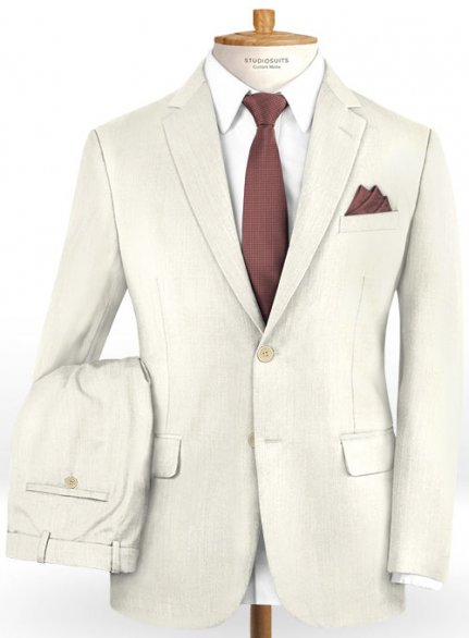 Scabal Fawn Wool Suit