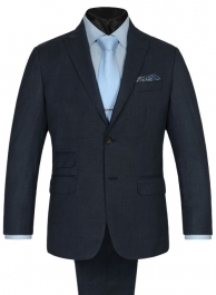 King Blue Wool Suit