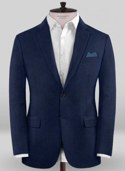 Caccioppoli Wool Blue Chebio Jacket