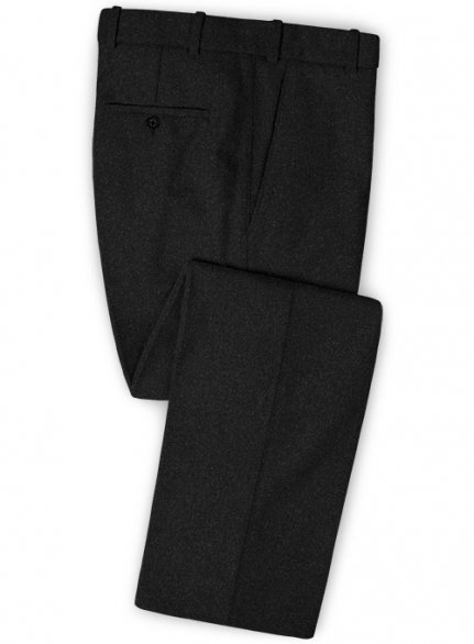 Black Heavy Tweed Pants