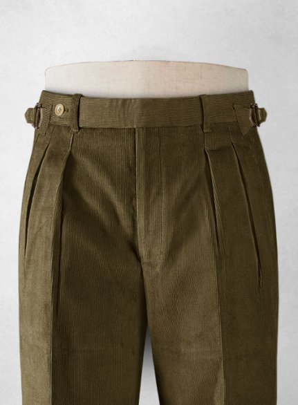 Camel Colonel Corduroy Trousers