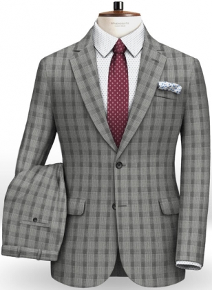 Napolean Tram Gray Wool Suit