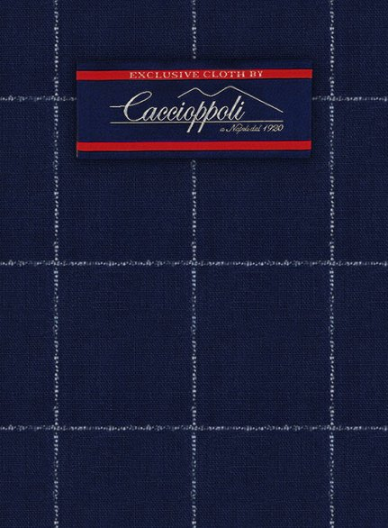 Caccioppoli Wool Blue Borro Suit
