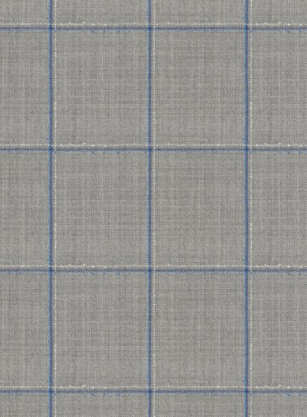 Napolean Pane Gray Wool Suit