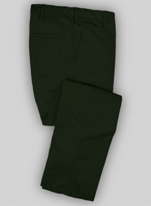 Washed Heavy Olive Chinos