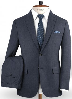 Reda Denim Blue Pure Wool Suit