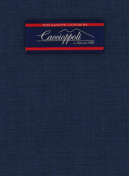 Caccioppoli Wool Blue Gazepi Suit