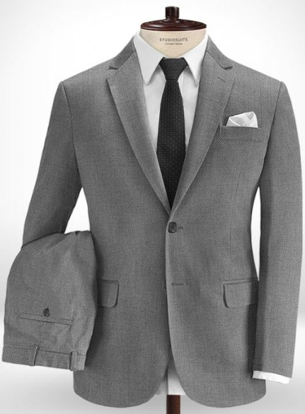 Cotton Stretch Giono Gray Suit