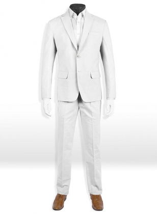 Tropical White Linen Suit - Special Offer