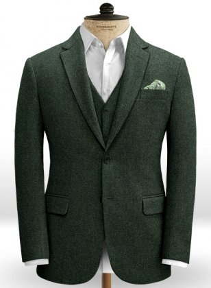 Green Heavy Tweed Jacket