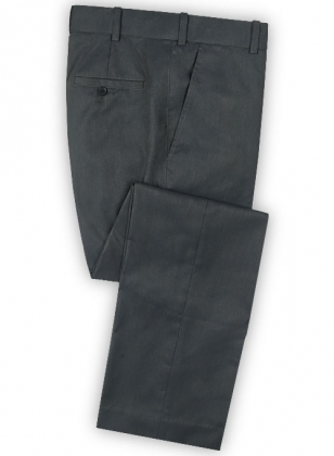 Frosted Blue Gray Terry Rayon Pants