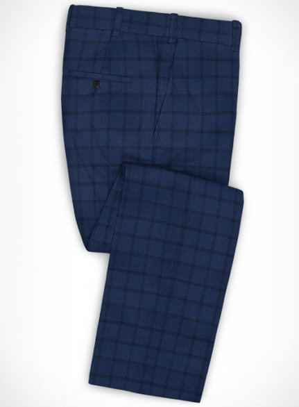 Cotton Fablo Blue Pants