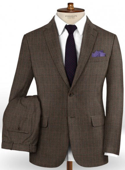Caccioppoli Dapper Dandy Ingel Brown Wool Suit