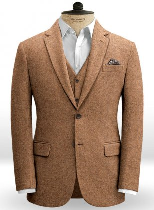 Spring Rust Tweed Jacket
