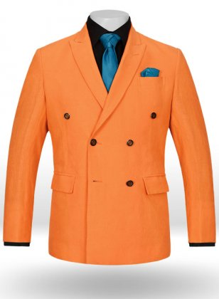 Pure Neon Orange Linen Sailing Blazer