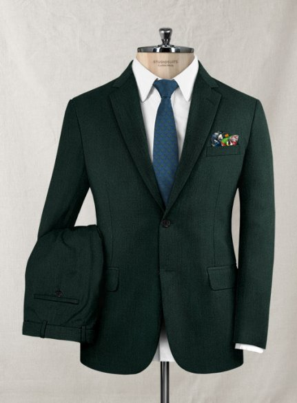 Italian Wool Cashmere Martini Green Suit