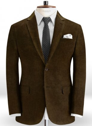 Rich Brown Thick Corduroy Jacket